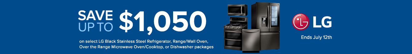 Bundle and Save up to $1150 on LG Appliance Packages