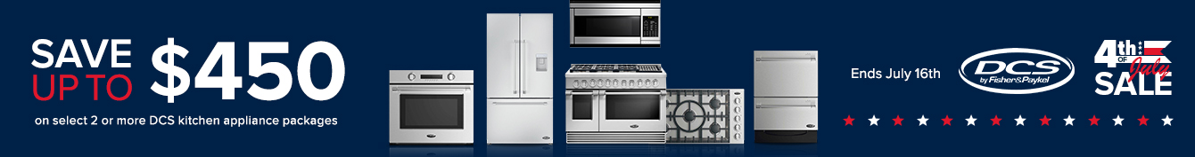 DCS Save Up to $450 Kitchen Appliances
