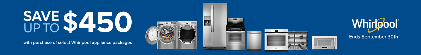Bundle and save up to $700 on Whirlpool Appliance Package