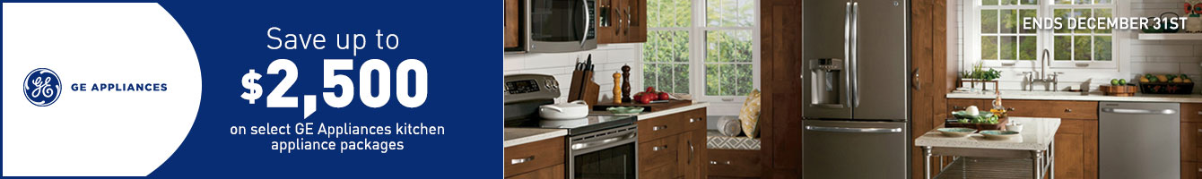 GE Save Up To $2500 On Select Appliance Packages