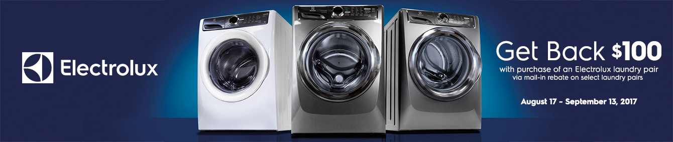 Electrolux Laundry Pair Get Back up to $100