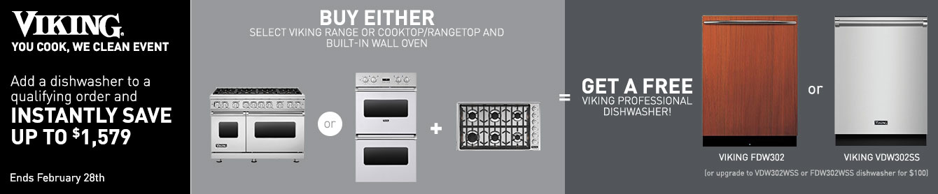 Free Viking Dishwasher with Select Viking Appliances