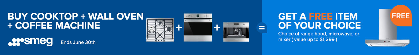 Build a qualifying package and get a free SMEG Range Hood or OTR Instantly