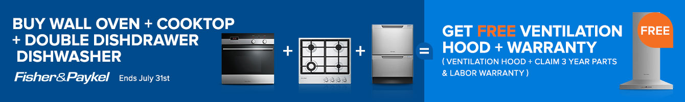 Free Item with Fisher Paykel Built-in Kitchen Package