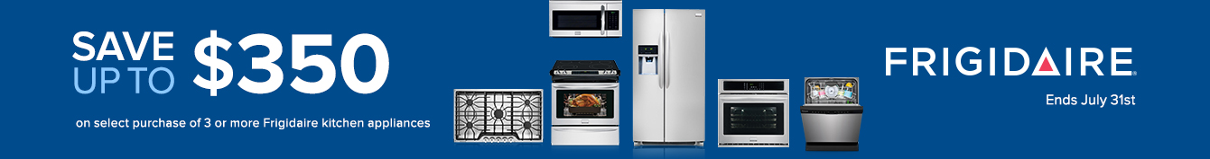 Save up to $500 on Frigidaire Kitchen Appliances