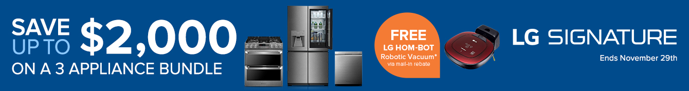 Up To $3800 OFF on LG Signature Appliance Bundle