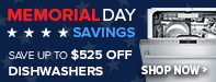 Memorial Day Sale - Save Up to 65% Off Select Dishwashers
