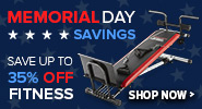 Memorial Day Sale - Save Up to 65% Off Select Health and Fitness Equipment
