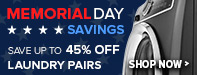 Memorial Day Sale - Save Up to 65% Off Select Washers