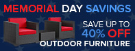 Memorial Day Sale - Save Up to 65% Off Select Outdoor Furniture