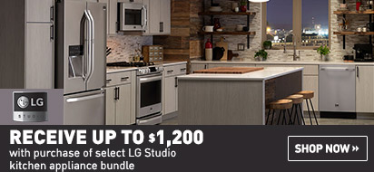 Bundle and save up to $1200 on LG Studio Appliance Package