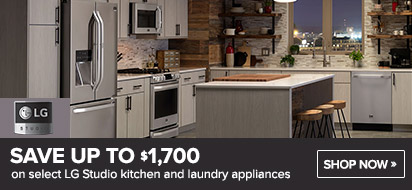 Bundle and save up to $1700 on LG Studio Appliance Package