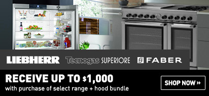 Liebherr, Tecnogas Superiore and Faber Package Program Rebate