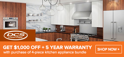 Save $1000 on DCS Ranges Plus 5 Years Warranty Offer