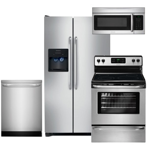Frigidaire Kitchen Appliance Package 2016 with Side-by-Side Refrigerator