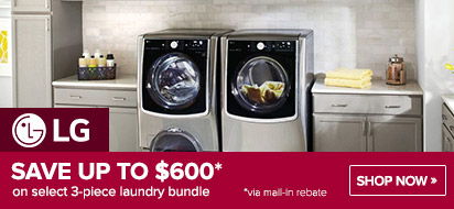 Bundle and save up to $300 on LG Laundry Packages