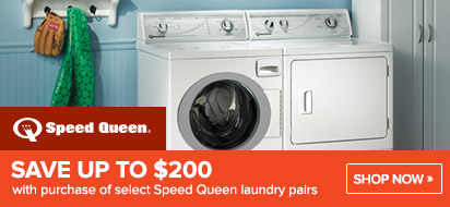 Save $100 on Speed Queen Laundry
