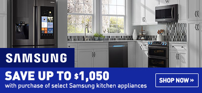 Bundle and save up to $1050 on Samsung Appliance Package