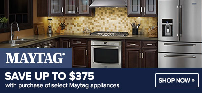 Bundle and save up to $450 on Maytag Appliance Package