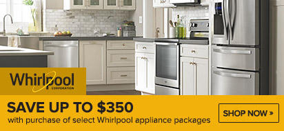 Save up to $700 on Whirlpool Kitchen Appliances