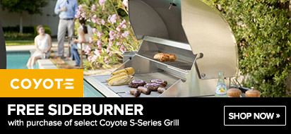 Coyote S-Series Grills Free Sideburner Promo