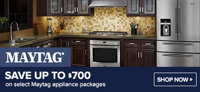 Save up to $700 on Maytag Appliances