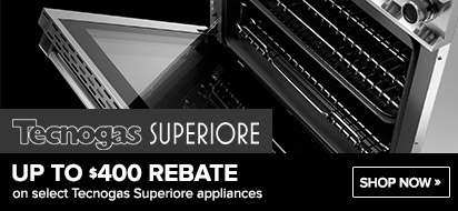 Tecnogas Superiore $400 Range and Hood Promotion