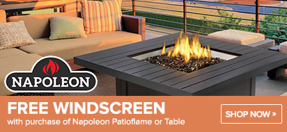 Napoleon Patioflame or Table with free Windscreen