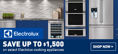 Save up to $1500 on Electrolux Appliances