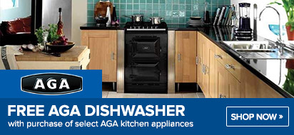 AGA Free Dishwasher with Cast Iron Range
