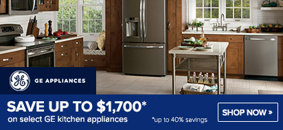 Bundle and save up to $1875 on GE Appliance Packages