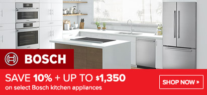 Bundle and save 10% + up to $1350 on Bosch Appliance Packages