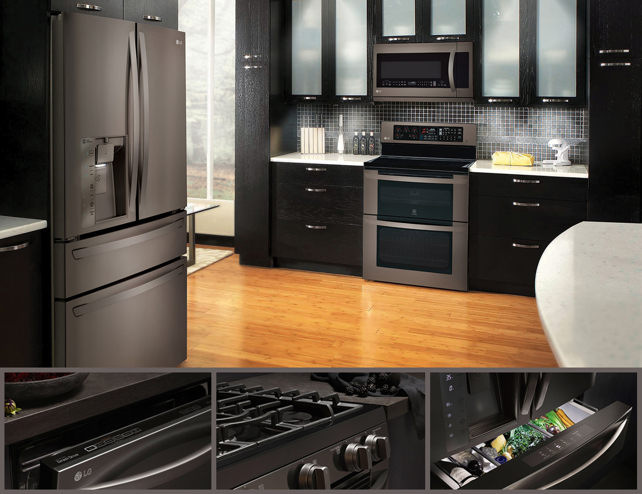Lg Black Stainless Steel Series Appliances Connection