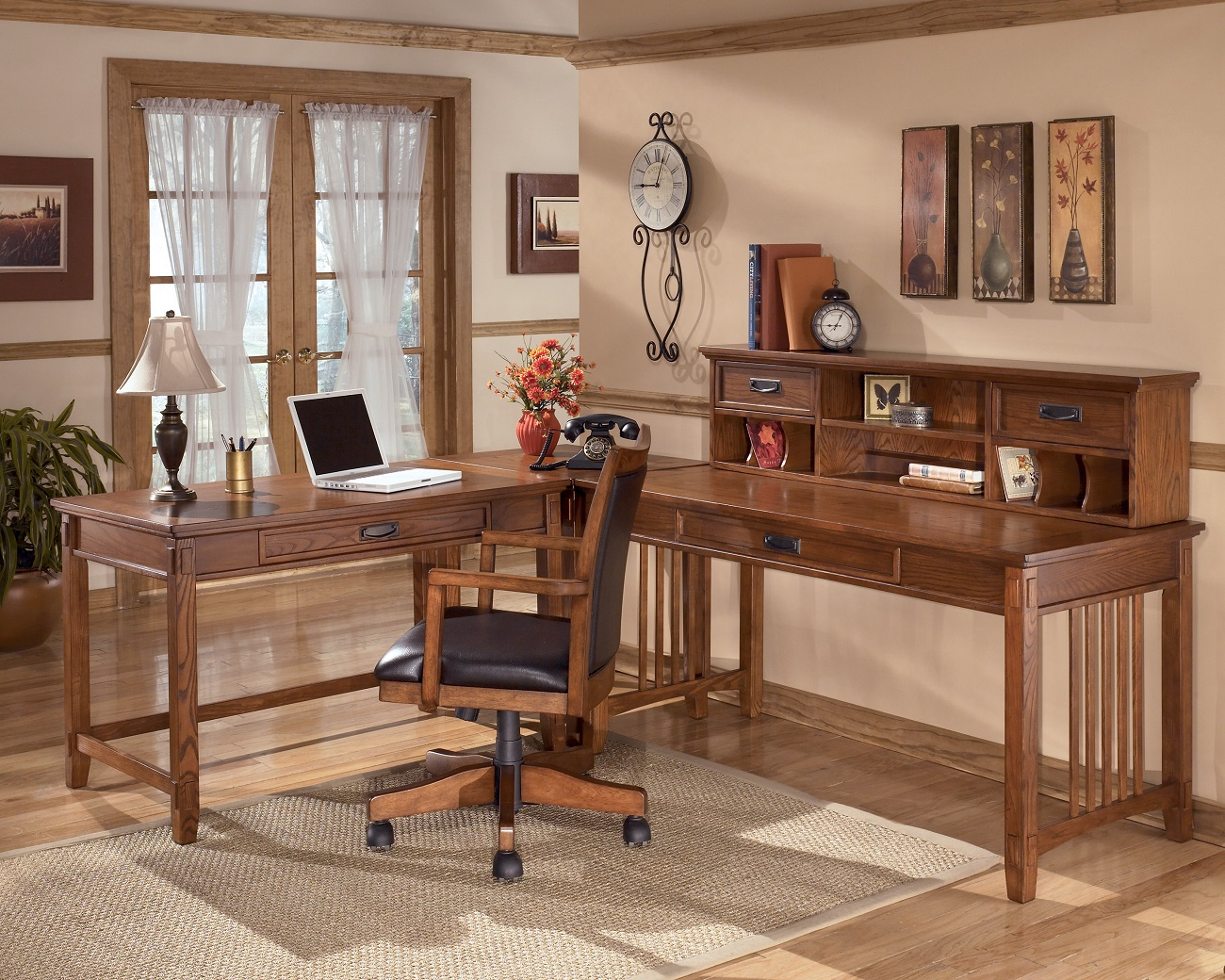 Home Office Sets Office Furniture Elements: Signature Design By Ashley Cross Island Collection